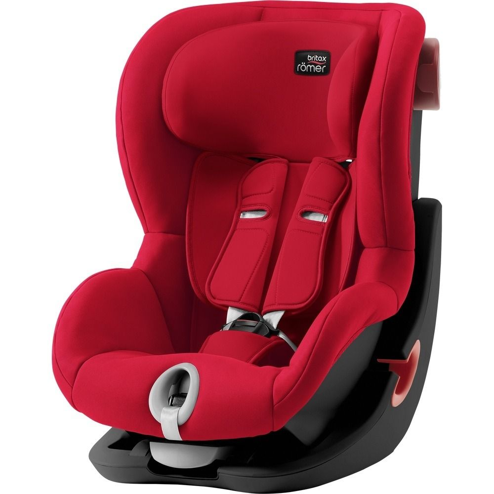 Автокресло Britax Römer King II Black Series Fire Red Trendline в Актау